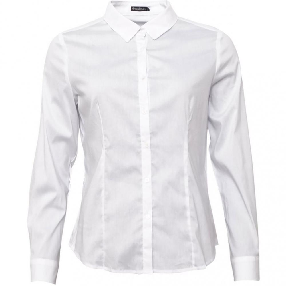 Soulmate Francesca bluse i bomull white MATTIS STORE