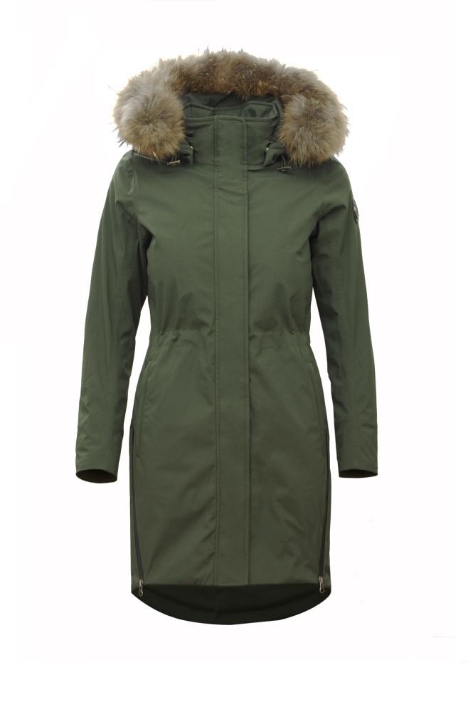 Normann Coat vatert jakke mfake fur på hetten black